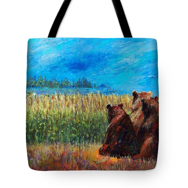 Can You See Whats Going On... Tote Bag by Arline Wagner