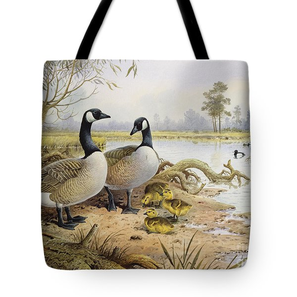 Canada Geese Tote Bag by Carl Donner
