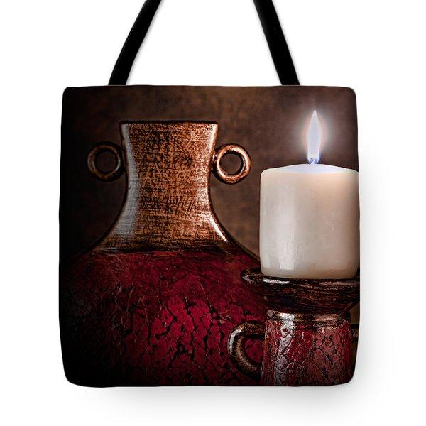 Candle Tote Bag by Tom Mc Nemar