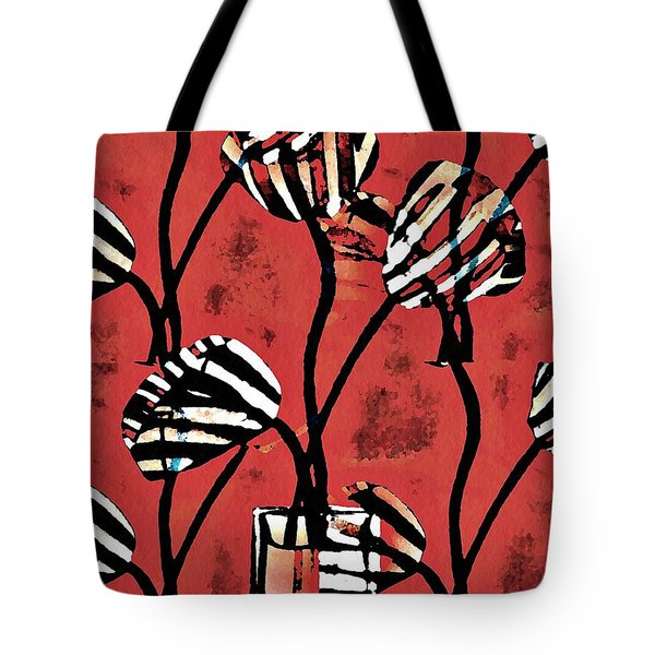 Candy Stripe Tulips 2 Tote Bag by Sarah Loft