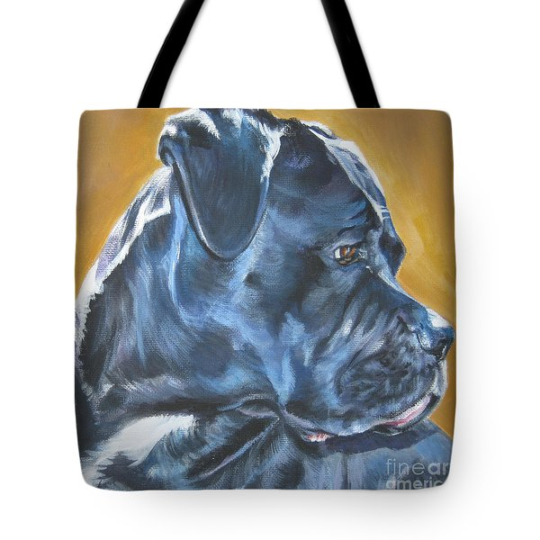 Cane Corso Tote Bag by Lee Ann Shepard