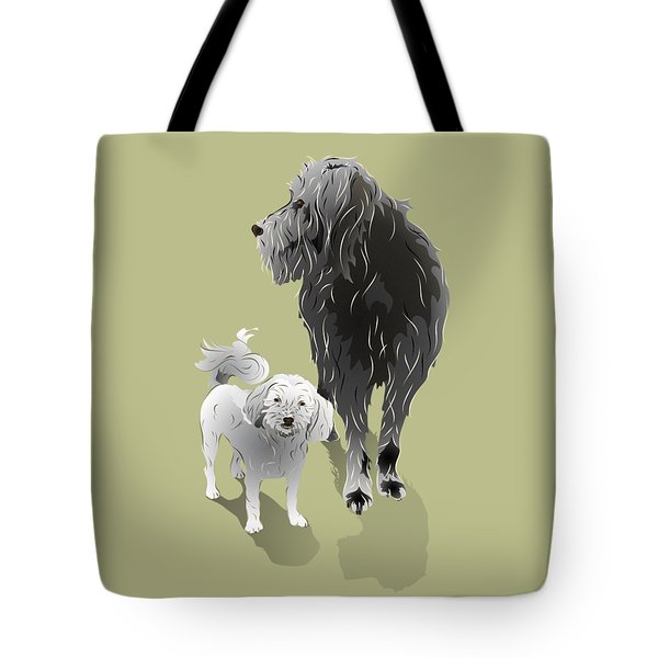 Canine Friendship Tote Bag by MM Anderson