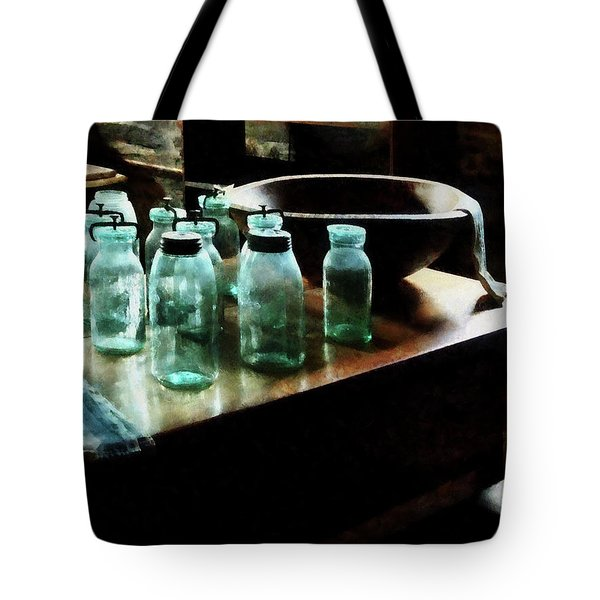 Canning Jars Tote Bag by Susan Savad