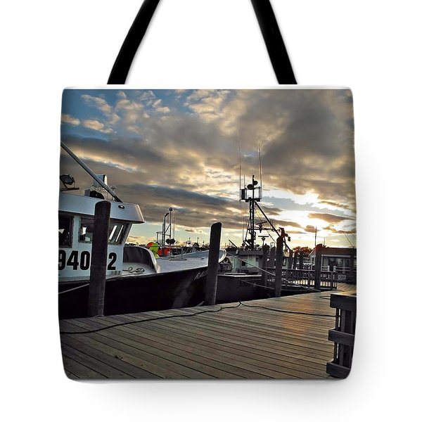 Cape Cod Harbor Tote Bag by Joan  Minchak