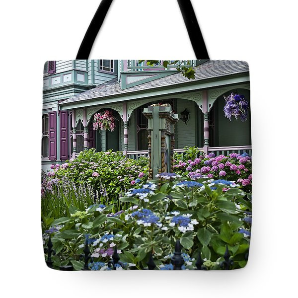 Cape May House And Garden. Tote Bag by John Greim