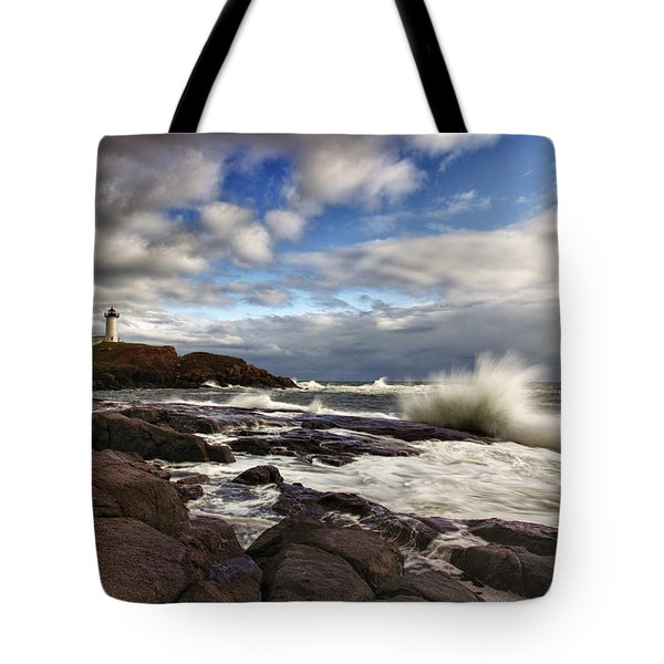 Cape Neddick Maine Tote Bag by Rick Berk