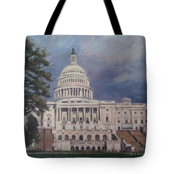 Capitol Building Tote Bag by German Zepeda