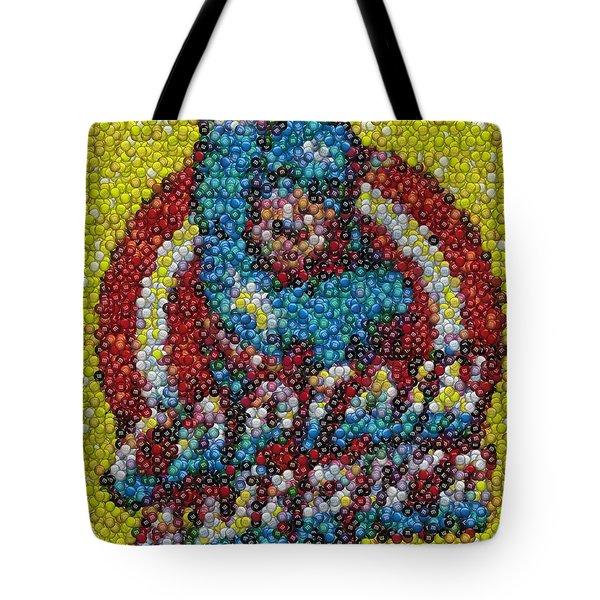 Captain America MM mosaic Tote Bag by Paul Van Scott