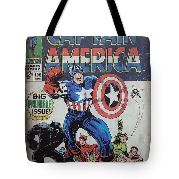 Captain America  Tote Bag by Rob Hans