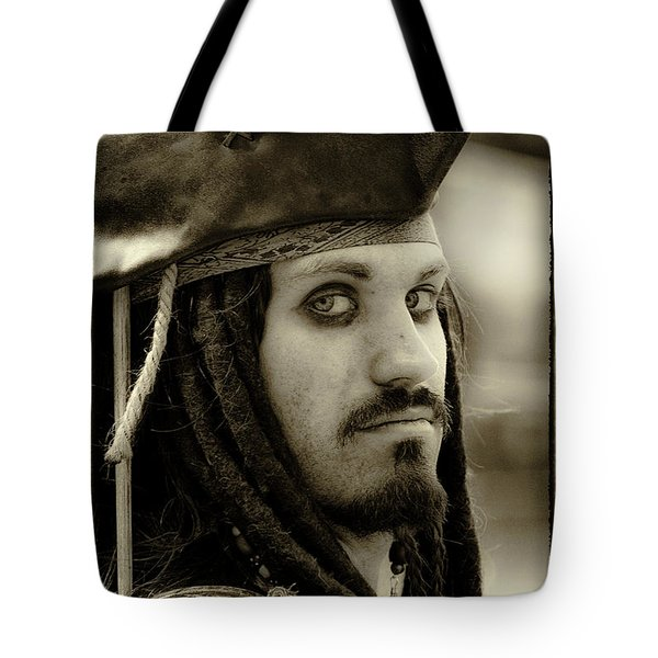 Captain Jack Sparrow Tote Bag by David Patterson