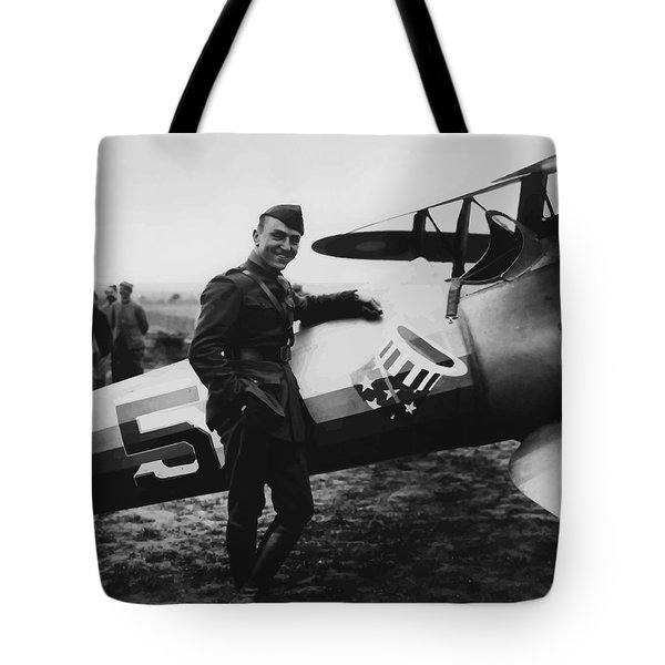 Captain Rickenbacker Tote Bag by War Is Hell Store