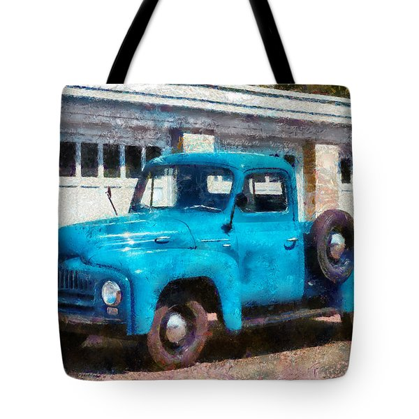 Car - Truck - An International Old Truck Tote Bag by Mike Savad