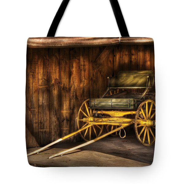 Car - Wagon - The Old Wagon Tote Bag by Mike Savad