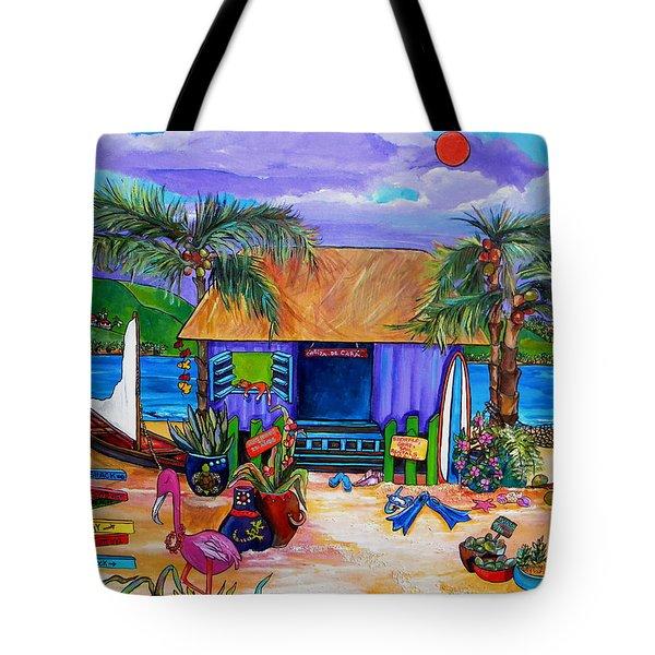 Cara's Island Time Tote Bag by Patti Schermerhorn