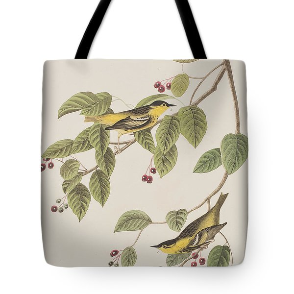 Carbonated Warbler Tote Bag by John James Audubon