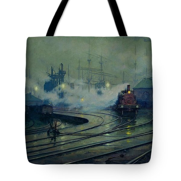 Cardiff Docks Tote Bag by Lionel Walden