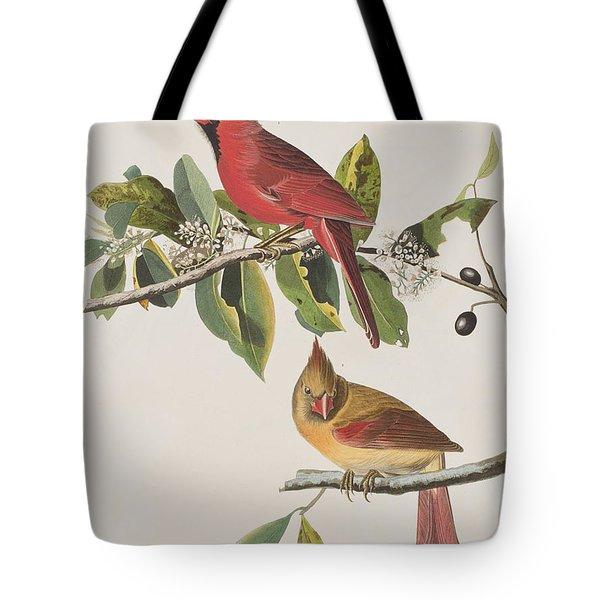 Cardinal Grosbeak Tote Bag by John James Audubon