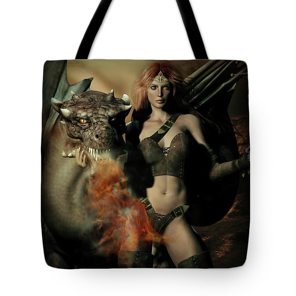 Careful He Burns Tote Bag by Shanina Conway