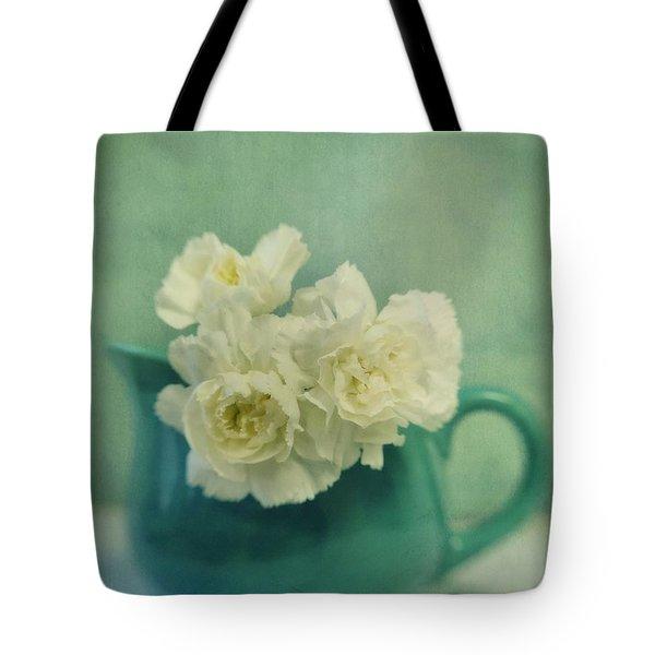 Carnations In A Jar Tote Bag by Priska Wettstein
