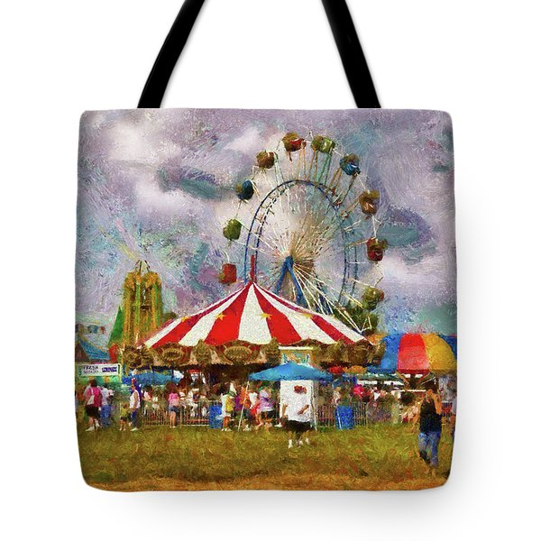 Carnival - Look At All The Excitement Tote Bag by Mike Savad