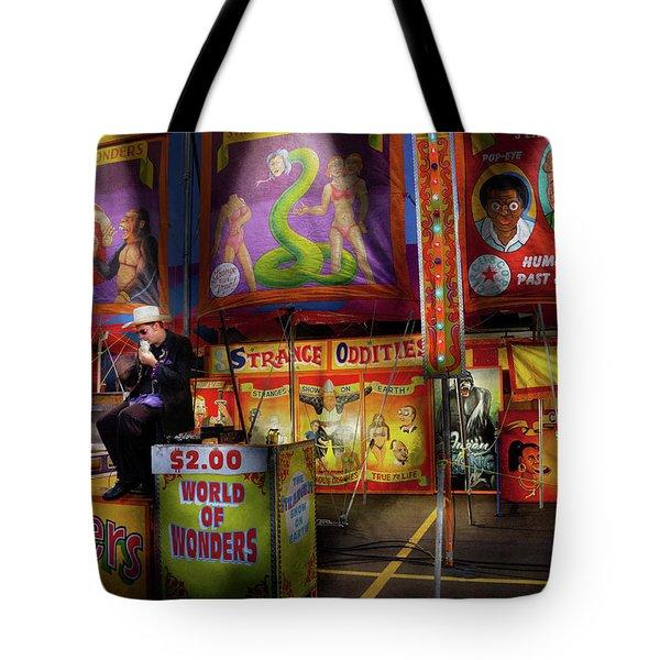 Carnival - Strange Oddities  Tote Bag by Mike Savad