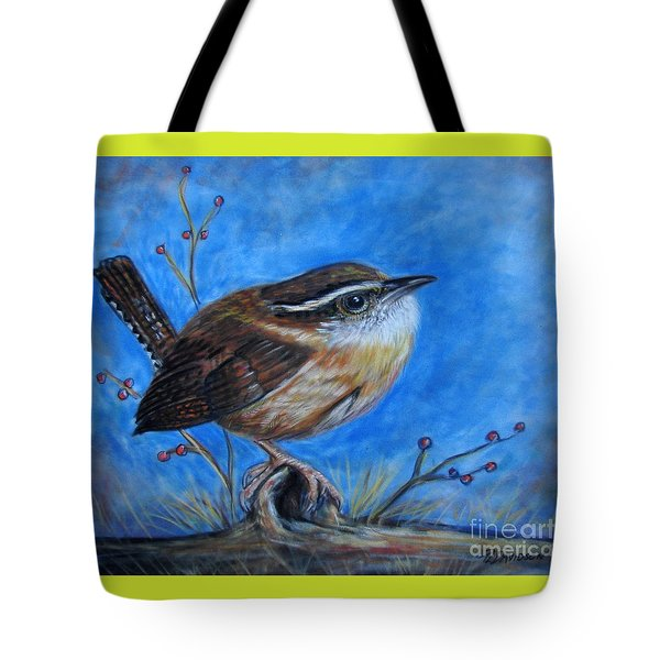 Carolina Wren Tote Bag by Patricia L Davidson