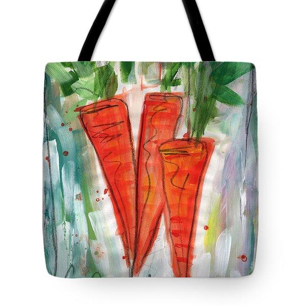 Carrots Tote Bag by Linda Woods