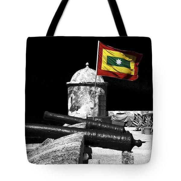 Cartagena Walled City Tote Bag by John Rizzuto
