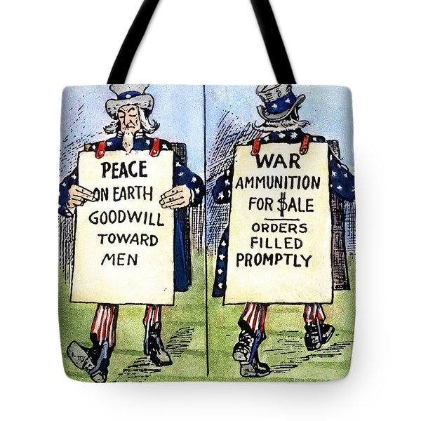 Cartoon: U.s. Neutrality Tote Bag by Granger