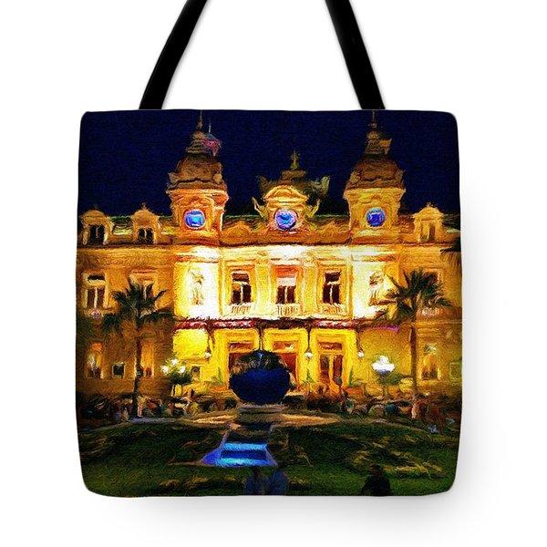 Casino Monte Carlo Tote Bag by Jeff Kolker
