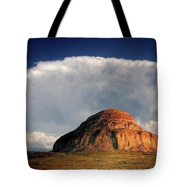 Castle Butte in Big Muddy Valley of Saskatchewan Tote Bag by Mark Duffy