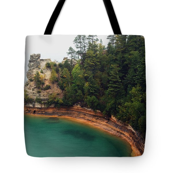 Castle Rock Tote Bag by Michael Peychich