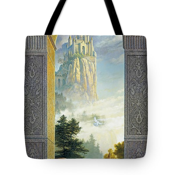 Castles in the Sky Tote Bag by Greg Olsen
