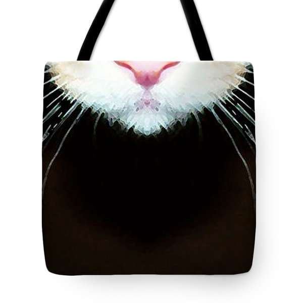 Cat Art - Super Whiskers Tote Bag by Sharon Cummings