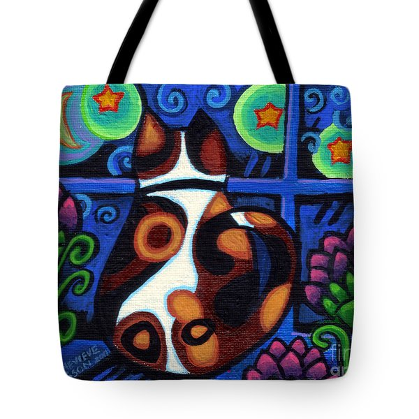 Cat At Window Tote Bag by Genevieve Esson
