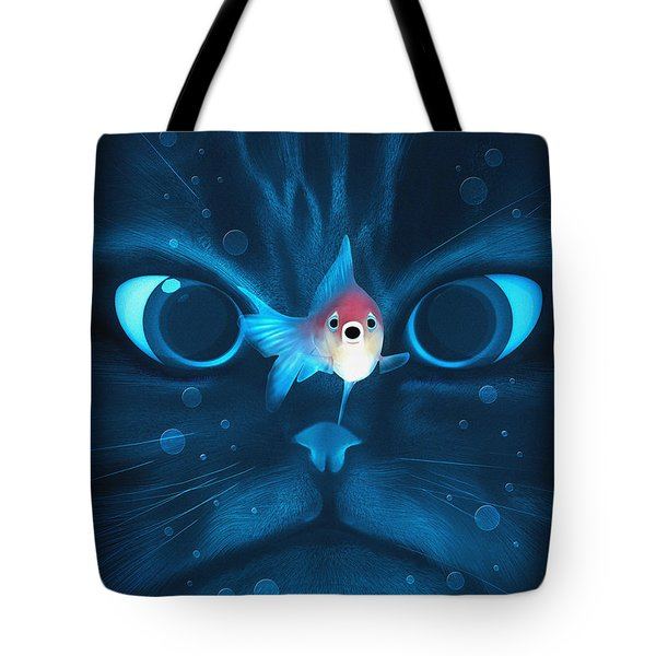 Cat Fish Tote Bag by Nicholas Ely