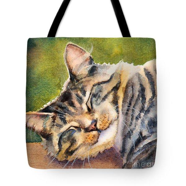Cat Nap Tote Bag by Bonnie Rinier