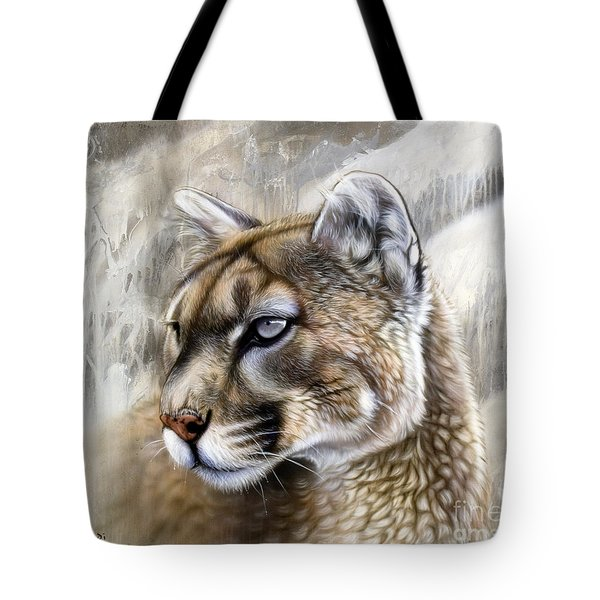 Catamount Tote Bag by Sandi Baker