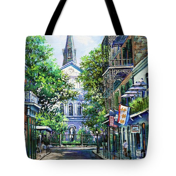 Cathedral At Orleans Tote Bag by Dianne Parks