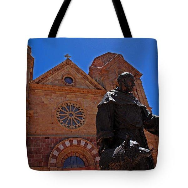 Cathedral Basilica in Santa Fe Tote Bag by Susanne Van Hulst