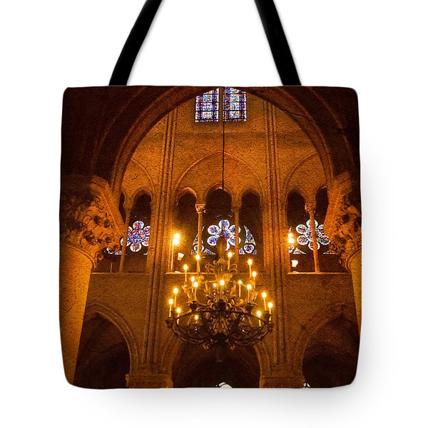 Cathedral Chandelier Tote Bag by Mick Burkey