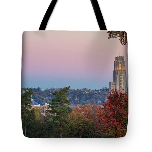 Cathedral Of Learning Tote Bag by Emmanuel Panagiotakis