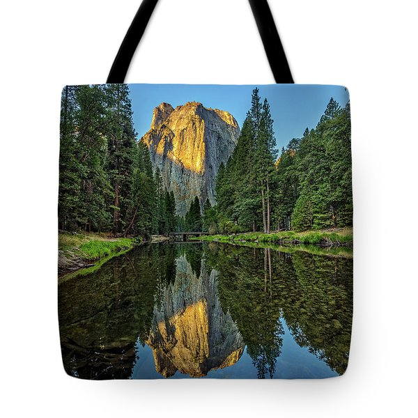 Cathedral Rocks Morning Tote Bag by Peter Tellone