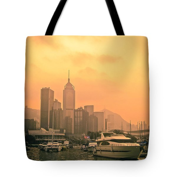 Causeway Bay At Sunset Tote Bag by Loriental Photography