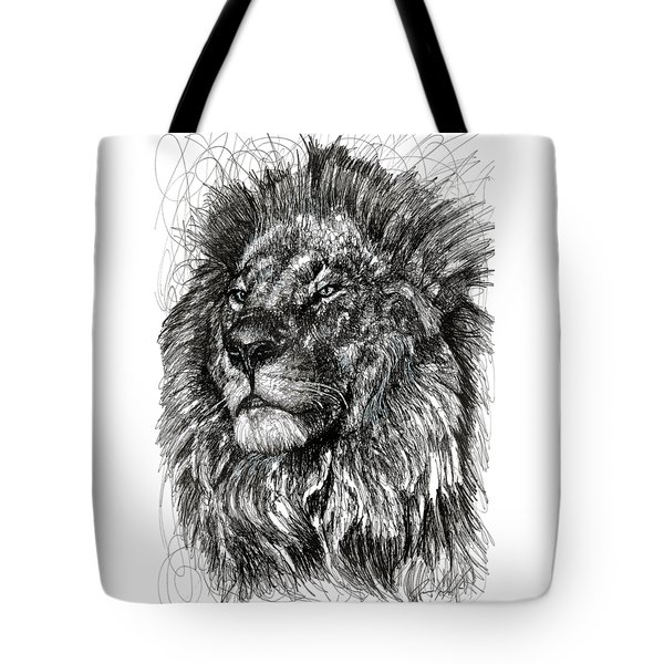 Cecil The Lion Tote Bag by Michael  Volpicelli