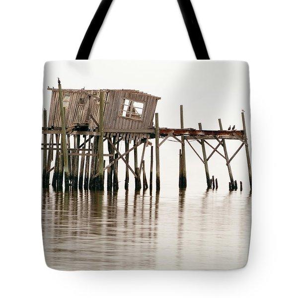 Cedar Key Structure Tote Bag by Patrick M Lynch
