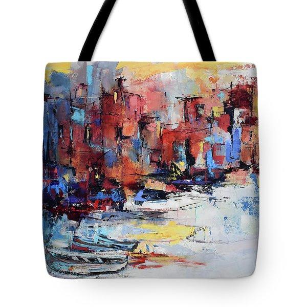 Cefalu Seaside Tote Bag by Elise Palmigiani
