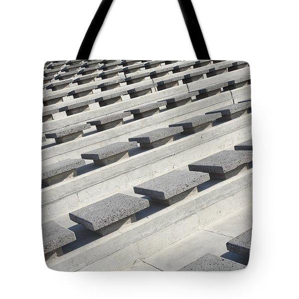 Cement Seats Tote Bag by Gaspar Avila