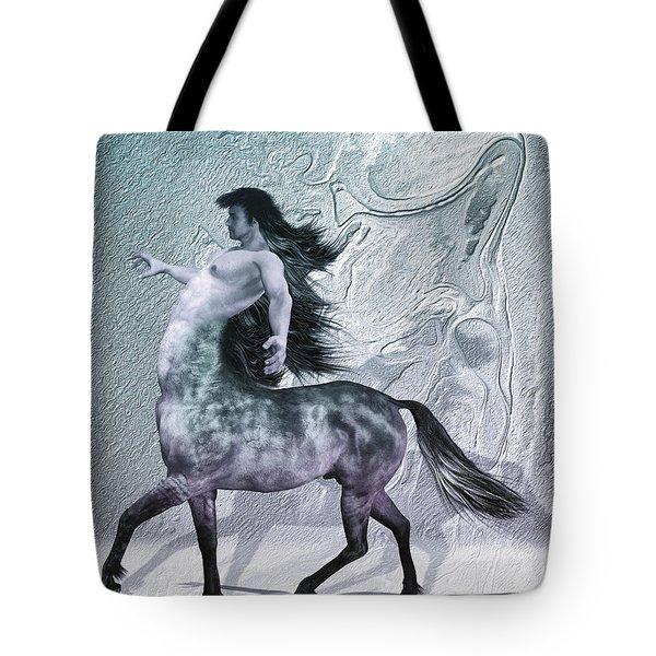 Centaur Cool Tones Tote Bag by Quim Abella