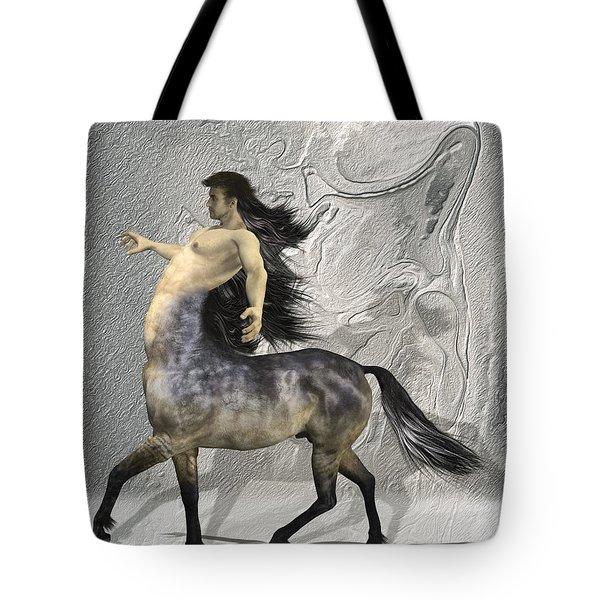 Centaur Warm Tones Tote Bag by Quim Abella